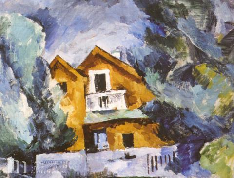 Кончаловский Петр Петрович (1876-1956) Дача. 1919 г. Холст, масло. 48х59.