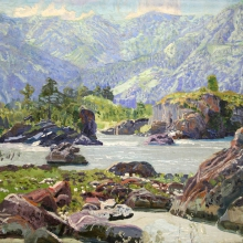 Nikulin Andrei Osipovich (1878-1945) The Katun. The early 1910s Oil on canvas, 48,7х59