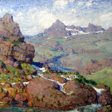 Nikulin Andrei Osipovich (1878-1945) Blue Altai (Altai Glaciers). 1908-1910 Oil on canvas, 87х109