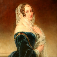 Christina Robertson (1796-1854) Portrait of M.I. Baryatinskaya, in marriage Kotchubey. 1840s. Oil on canvas. 101x78.