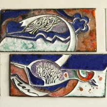 Kapustin Yuri (born 1935). First snow. 2007. Metal, cloisonne. The State art Museum of Altai krai